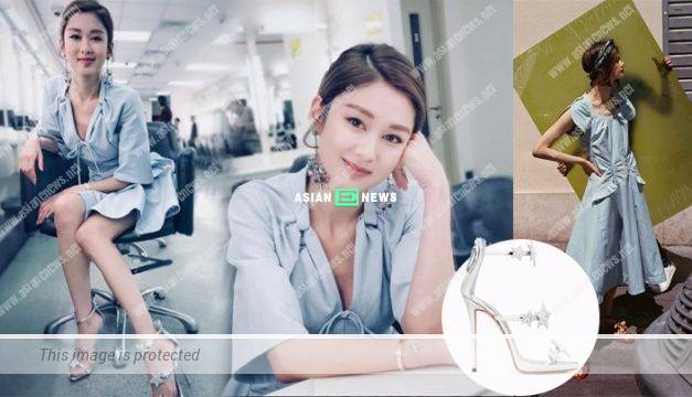 Eliza Sam looks sweet in glamorous outfit