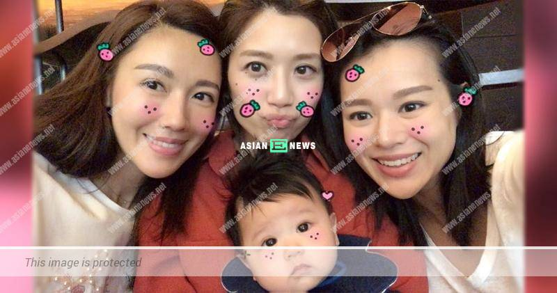 Selena Lee and Mandy Wong are bedazzled by Myolie Wu's son