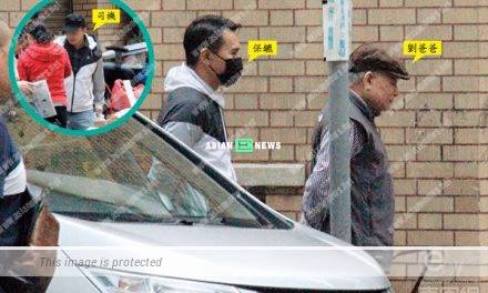 Andy Lau's parent buy groceries with a big team escorting them