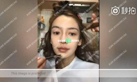 Does Angelababy looks the same with or without make-up?