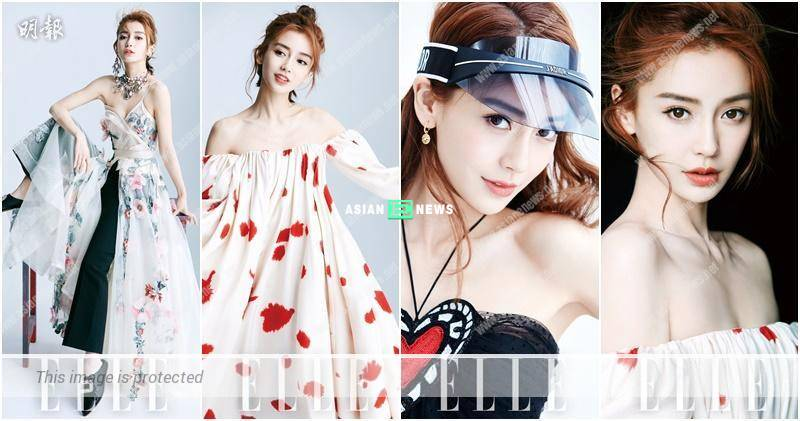 Beautiful mum, Angelababy shows many trendy images