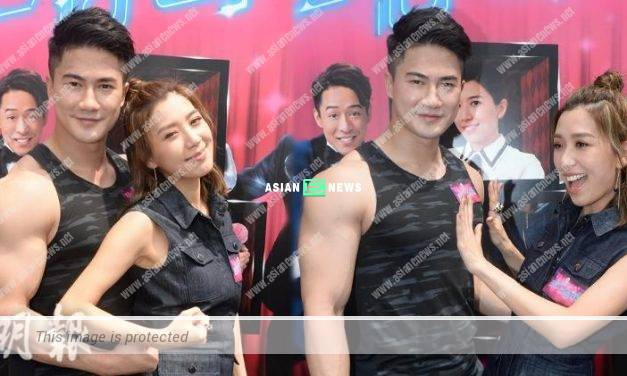 Mandy Wong cannot resist to touch Arnold Kwok's chest