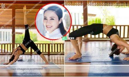 Gigi Lai does yoga; Netizens praise she has a fit body figure