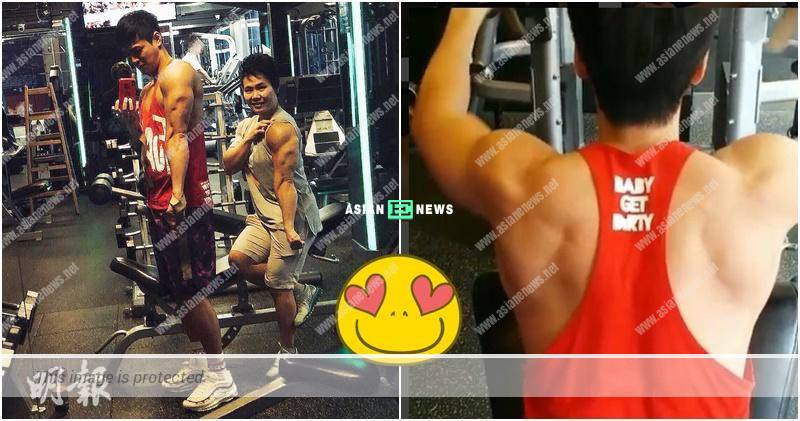 Him Law shows his muscular body; Louis Cheung praises he is powerful