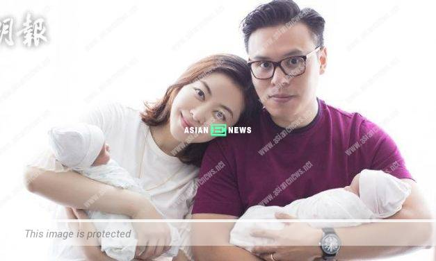 Lynn Hung's husband, Kwok Ho Chung dares not carries his delicate daughters