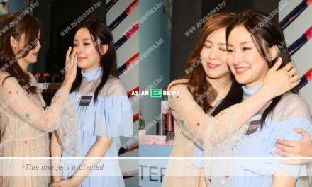 Moon Lau consoles Jeannie Chan when she is late for an event