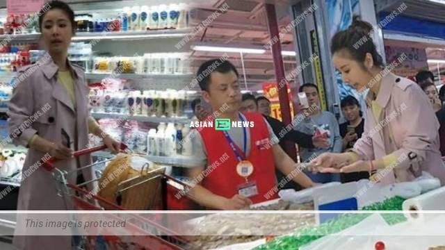 Ruby Lin buys groceries at the supermarket and asks for help