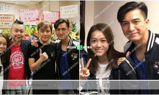 Kenneth Ma and Jacqueline Wong are happy to film stage play together
