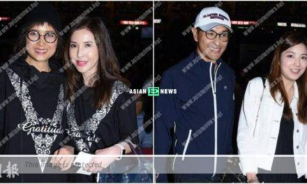 Ruco Chan and Phoebe Sin watch Vivian Lai's concert together