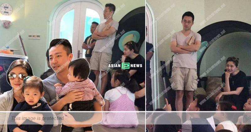 Expecting Barbie Hsu takes her children to parental infant lesson