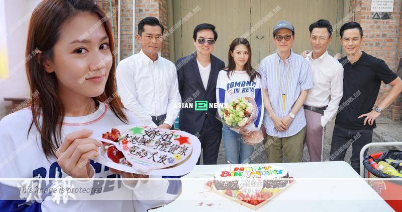 Chrissie Chau turns 33 years old; Louis Koo and Raymond Lam celebrate birthday with her