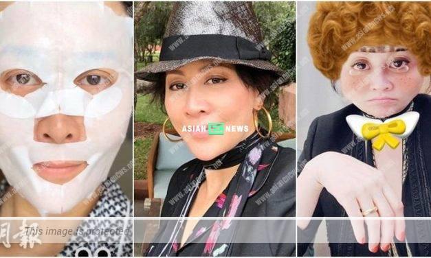 Carina Lau shows photo of herself applying facial mask to support Faye Wong?