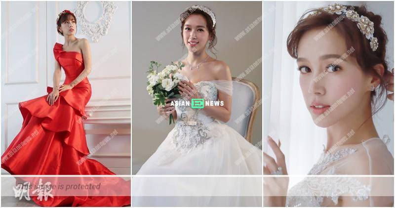 Kelly Fu wears wedding gown and is featured in the magazine cover