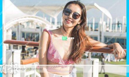 Louisa Mak wears sexy bikini top on the cruise