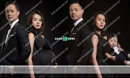 Myolie Wu's husband, Philip Lee shares their family photo