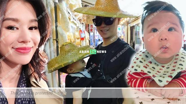 Myolie Wu's husband brings his son for fishing: Where are the fishes?