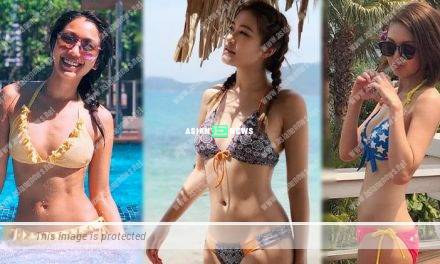 Lori Chow and Rainky Wai wear bikini revealing their fit body figures