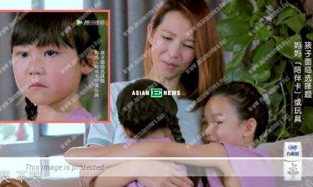 Ada Choi's younger daughter cries when she cannot accompany them