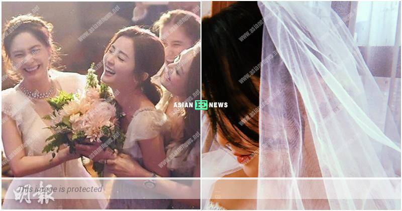 Charlene Choi wears wedding gown after getting floral bouquet from Gillian Chung