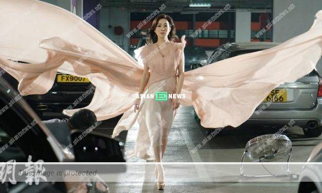 Charmaine Sheh's eyes feel uncomfortable with 4 big fans blowing at her