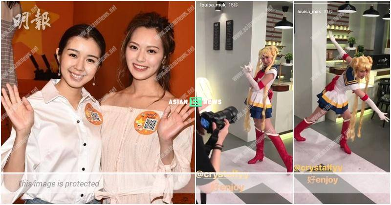 Louisa Mak feels happy when Crystal Fung acts as Sailor Moon