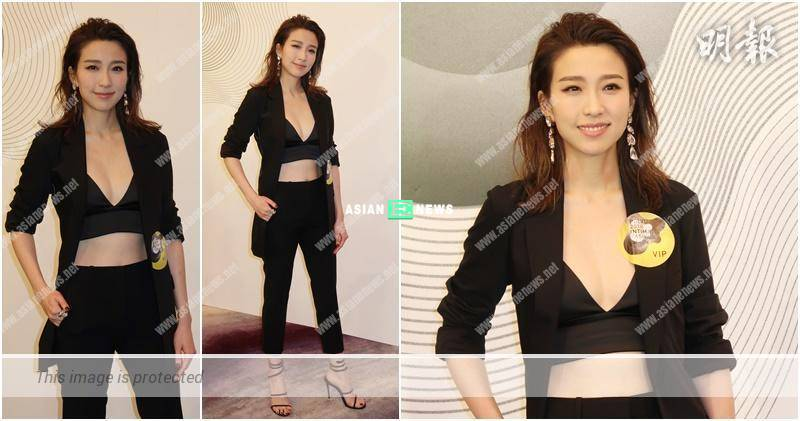 Sexy Elaine Yiu wears black bra top and wants to shoot lingerie advertisement