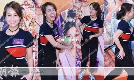 Jacqueline Wong is frightened when her strap is loose suddenly