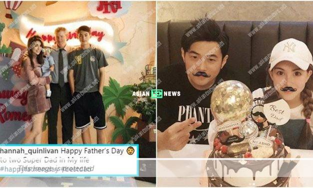 Hannah Quinlivan shows her son, Romeo's face; She praises Jay Chou as super dad