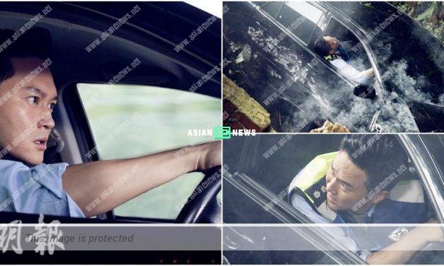 The Leakers film: Julian Cheung has a car accident and Michelle Wai waits for him
