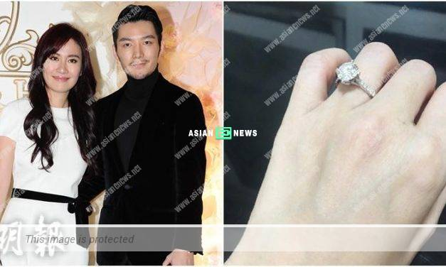 Michelle Ye accepts the marriage proposal and diamond ring?