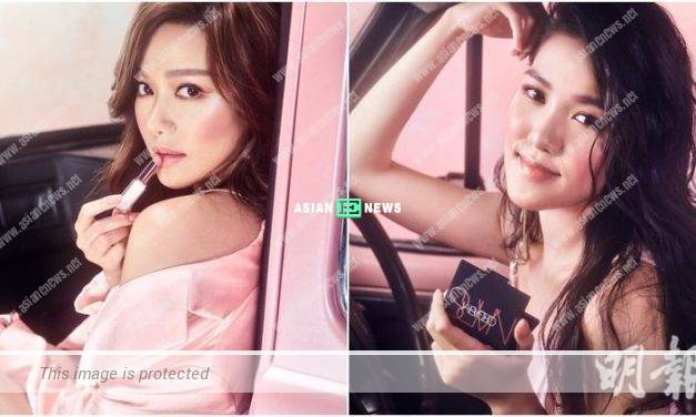 Roxanne Tong and her sister, Cassandre shoot cosmetic advertisement together