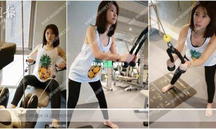 Ruby Lin's arm is numb? She has offended the fitness instructor?