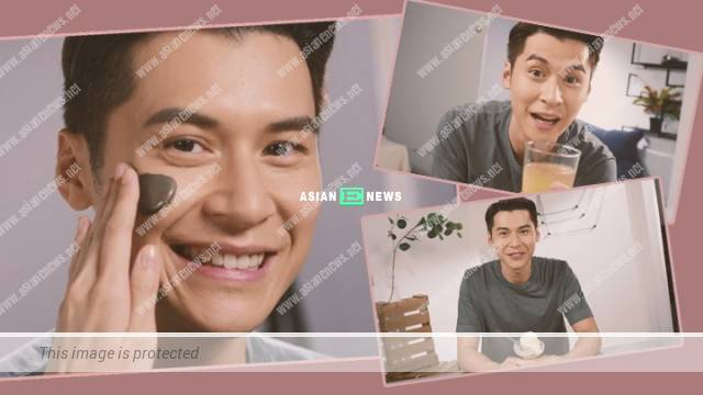 Carlos Chan acts as a caring boyfriend in a skincare advertisement