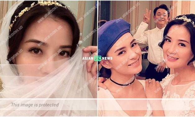 Charlene Choi keeps wearing wedding gown during the filming