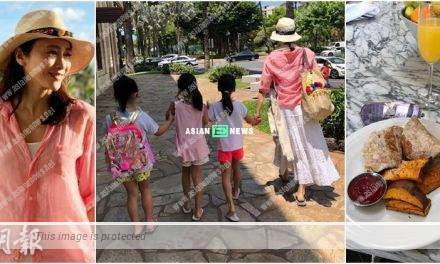Gigi Lai takes her 3 darling daughters for holidays