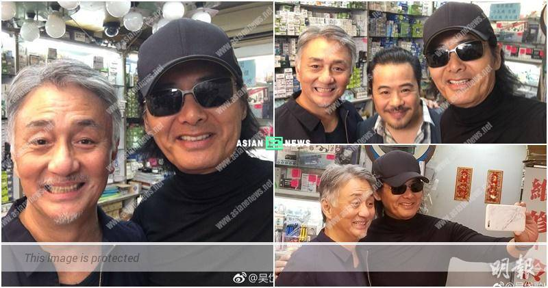 Hugo Ng bumps into Chow Yun Fat when filming in Kowloon City