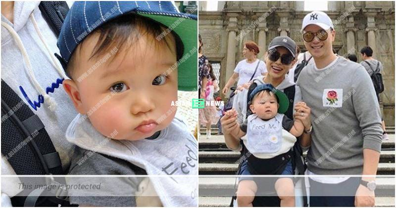 Myolie Wu's son leaves Hong Kong for the first time