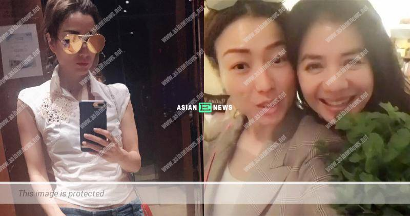 Sammi Cheng supports recycling by wearing Cherie Chung's old top