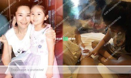 Sonija Kwok is injured and feels sweet when her daughter cares for her
