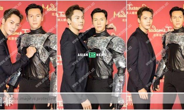 "William Chan discovers ""himself"" at Madame Tussauds in Beijing"
