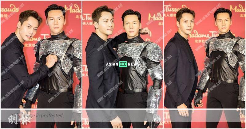 """William Chan discovers """"himself"""" at Madame Tussauds in Beijing"""