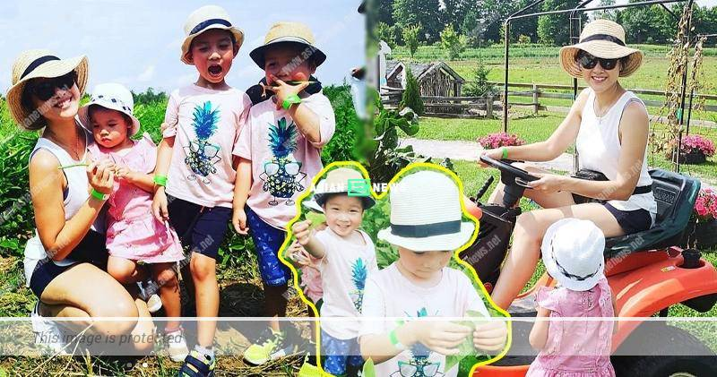 Aimee Chan takes her children to an organic farm