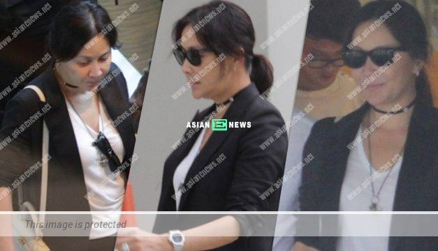 Carina Lau goes for a quick shopping at the Central