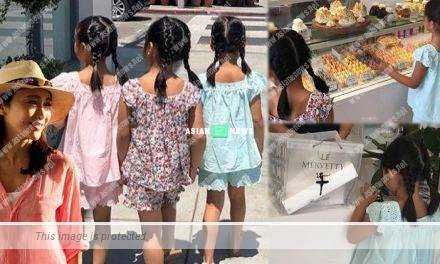 Gigi Lai takes her daughters to the bakery shop