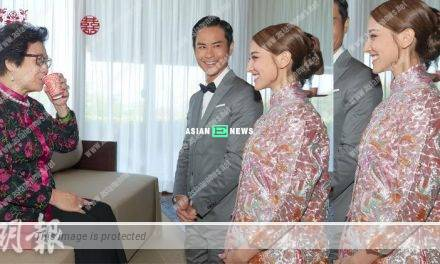 Grace Chan's stomach is slightly bigger during the wedding in Bali