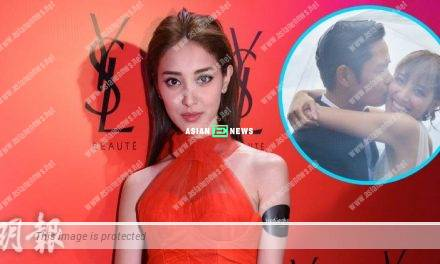 Grace Chan's husband, Kevin Cheng kneels down in the flight to propose marriage