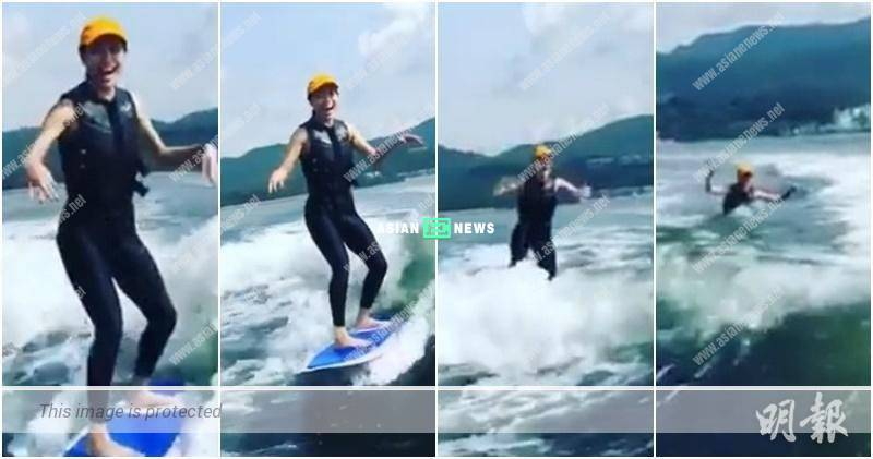 Joey Yeung falls in love with wakesurfing