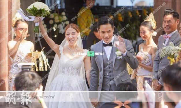 Kevin Cheng fails to hold back his tears when Grace Chan walks into the church