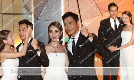 Kevin Cheng and Grace Chan behave sweetly at an event together