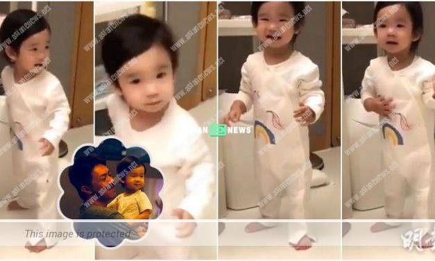 Louis Cheung's daughter speaks in baby language when he asks her